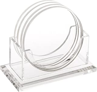 Best round clear glass coasters Reviews