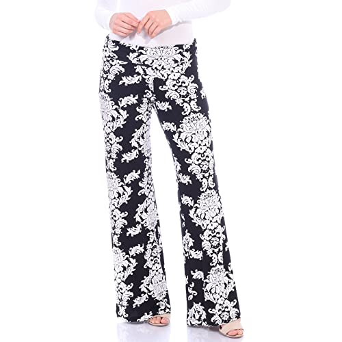 5ed19251a7ffd Popana Womens Comfy Chic Wide Leg Boho Print Palazzo Pants Plus Size Made  in USA