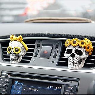 URSING Car Air Outlet Ghost Head Pendant, Car Air Vent Clip Charms, Car Accessories for Women Men, 2 pcs Aromatherapy Car Vent Ornaments, Car Interior Decoration Charm Accessories