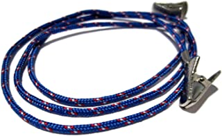 ATLanyards Blue, Maroon, and White Paracord Clip Eyeglass Holder, CHOOSE YOUR SIZE Glasses Cord, 316