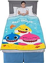 "Franco Kids Bedding Super Soft Plush Throw, 46"" x 60"", Baby Shark"