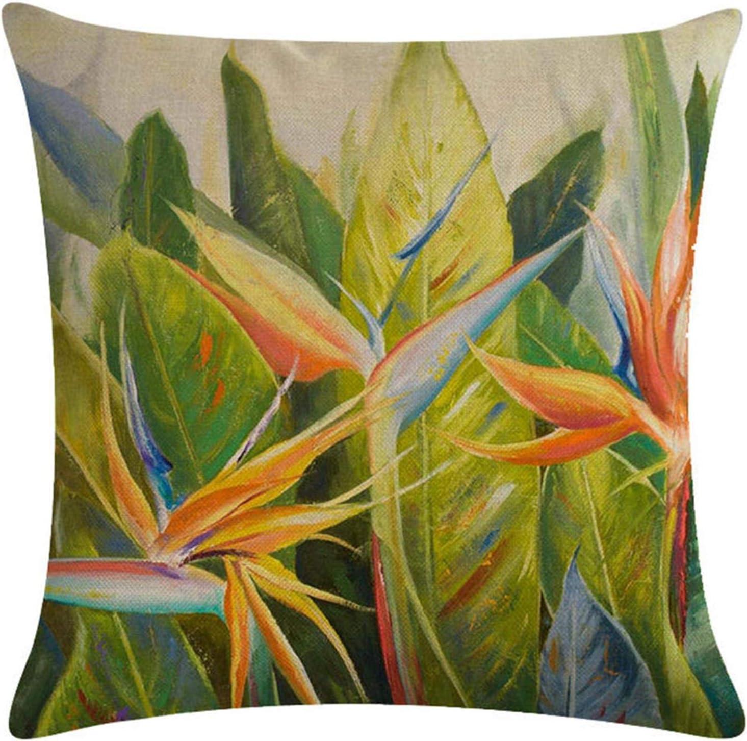 Dingsh Leaf Bamboo Print Sofa Zipper Product Closure Minneapolis Mall Case Cushion Pillow