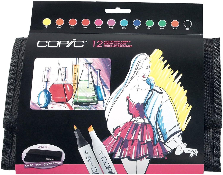 Set von 12 Copic leuchtendefarben in die Geldbörse B004HHTD6E     | Überlegene Qualität