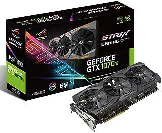 ASUS ROG-STRIX-GTX1070TI-8G-GAMING - Tarjeta gráfica (NVIDIA GeForce GTX 1070 TI, 8 GB de GDDR5, PCI Express 3.0, DVI-D, HDMI x 2, DP x 2) Negro