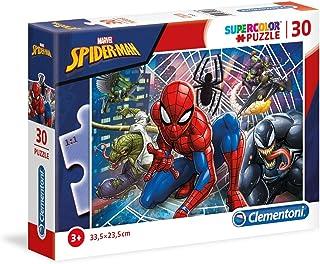 Clementoni- Marvel Puzzle Spiderman 30 pièces, 20250, Multicolore
