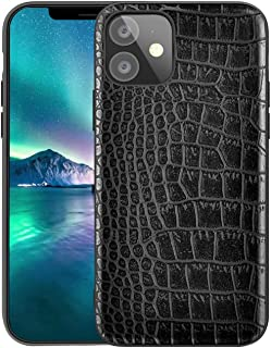 Qcasenice iPhone11 Luxury Case Compatible with Apple iPhone 11 Cases Phone Cover Apple11 Soft PU Leather Crocodile Funda Coque 6.1 inch (Black)