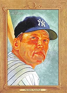 2007 Turkey Red Baseball #77 Mickey Mantle New York Yankees Official MLB Trading Card From Topps