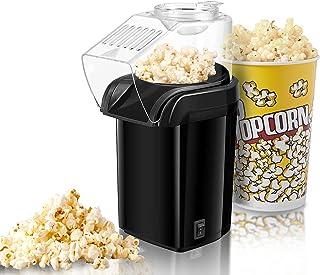 Machine à Pop Corn, Retro Popcorn Maker, Air Chaud Sans Gras Huile, Revêtement Anti-adhésif, Avec Coupe à Mesurer et Couve...
