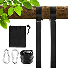 2Pcs 5ft Extra Long Swing Hangers with Safer Lock Carabiners and 360/° Rotating Ring Holds Up to 2000 lbs Intbase Tree Swing Strap Hanging Kit Perfect for Tree Swing /& Hammocks