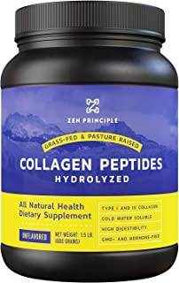 Grass-Fed Collagen Peptides 1.5 lb. Custom Anti-Aging Hydrolyzed Protein Powder for Healthy Hair, Skin, Joints & Nails. Pa...