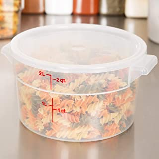 Cambro RFS2PP190 2 Qt. Translucent Round Storage Container with RFSC2PP190 Translucent Lid