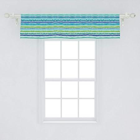Vintage Main Street Shops Window Valance 14035 8  X 104 Inches Cotton
