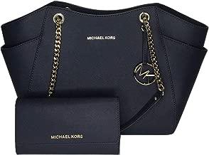 MICHAEL Michael Kors Jet Set Travel Large Chain Shoulder Tote bundled with Michael Kors Jet Set Travel Trifold Wallet