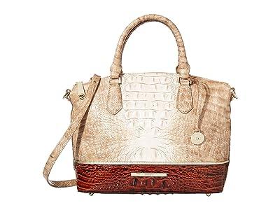 Brahmin La Sierra Duxbury Satchel (Praline) Handbags