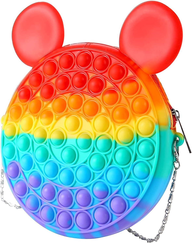 Changyun Pop Shoulder Bag-Rainbow Push adult toy 100% quality warranty! National uniform free shipping Fidget bag