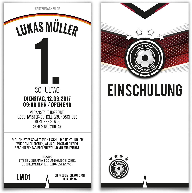 Einschulung Einladungskarten (60 Stück) Stück) Stück) erster 1. Schultag Einschulungskarten - Fußballtrikot B073WZP4FC | Ausgewählte Materialien  91c422