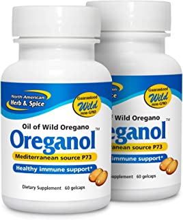 North American Herb & Spice Oreganol P73 (2 Pack) - 60 Softgels - Immune System Support - Unprocessed, Vegan Friendly Wild...