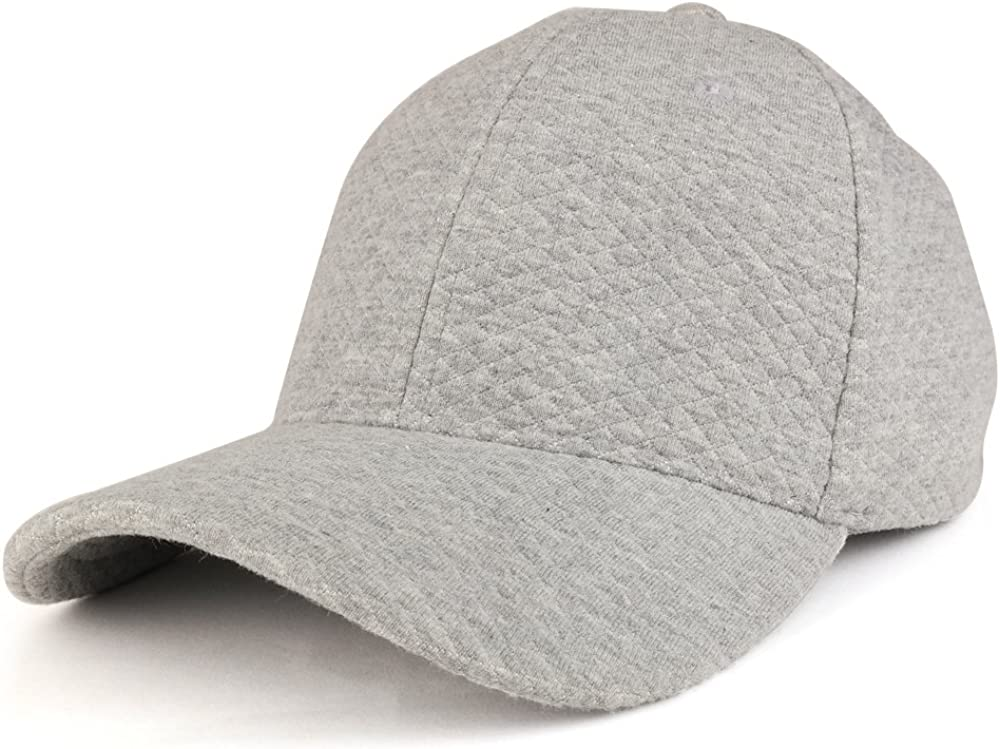 Trendy Apparel Shop Plain Mini Quilted 100% Soft Cotton Structured Baseball Cap