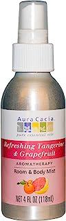 Aura Cacia Tangerine/Grapefruit Aromatherapy Mist 4 Oz. Bottle