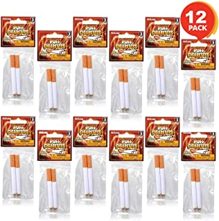 ArtCreativity 3.25 Inch Fake Puff Cigarettes That Blow Smoke - 12 Pack - 24 Faux Cigs with a Realistic Look - Prop for Prank, Halloween Costume, Movie, or Theater Play - Fun Gag Gift, Novelty Toy