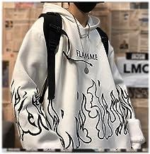 Hooded LigHtweigHt Hooded Print Truien met lange mouwen Oversized Harajuku Hoodie Kleding Sweatshirt Dames(Color:2,Size:X-...