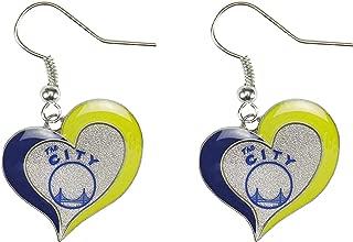 NBA Golden State Warriors The City Swirl Heart Earrings
