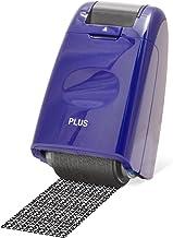 PLUS Japan, Datenschutz Rollstempel Camouflage in Blau, Text