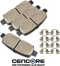 CENCORE Rear Brake Disc Pad Set 4 pcs Ceramic Brake Pads Kits Compatible with Infiniti EX35 2008-2010/Infiniti Q60 2014-2015/Nissan Altima 2007-2010/Nissan Sentra 2007-2012