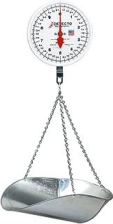 Detecto MCS-40P Hanging Dial Scale, 40 lb. Capacity, Scoop