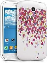 kwmobile Funda para Samsung Galaxy Grand Neo / Duos - Case para móvil en TPU silicona - Cover trasero diseño de confeti en multicolor rosa fucsia blanco