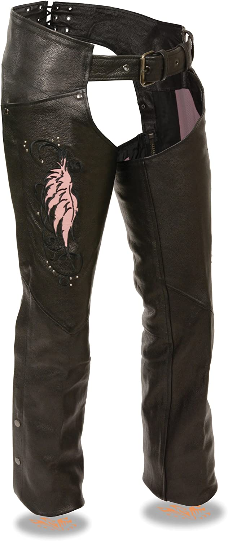 Milwaukee shop Women's Leather Chaps XXX-Small Houston Mall Pink Black