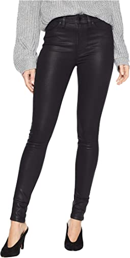 Barbara High-Waist Skinny Jeans in Noir Coated 2