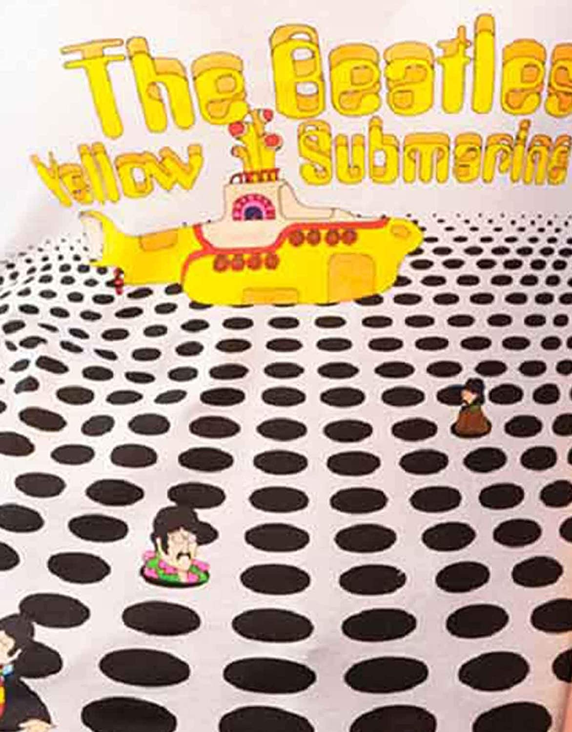 The Beatles Tricot De Corps Jaune Submarine Sea of Holes Femme Skinny Fit