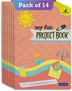 Project Books for Kids | Project Papers for School, College & Home | 32 Pages A4 Size | 1 Side Ruled & 1 Side Colored Plai...