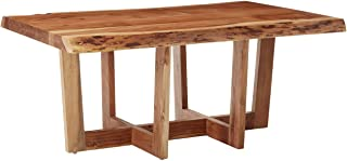 """Berkshire Live Edge Solid Wood 42"""" Coffee Table, Natural"""