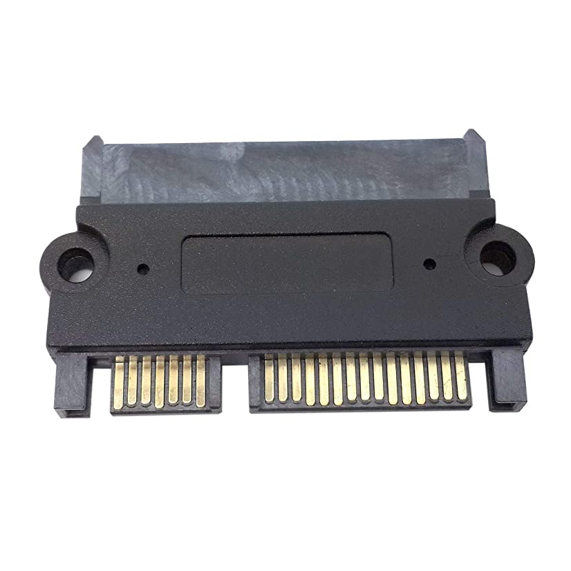 HDMIHOME 3.5 & 2.5inch SATA 22Pin 7+15 Male to SATA 22P 7+15 Female extension convertor adapter with screw holes