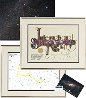 Star Registry Name A Star Ultimate Star Kit Gold with Photographic Sky Image