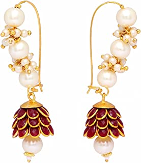 Geode Delight Gold Plated Long Pacchi Earring Set For Women And Girls