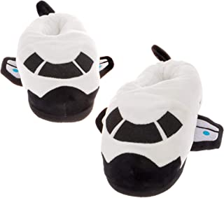 Silver Lilly Space Shuttle Slippers - Plush Spaceship Slippers w/Comfort Foam Support