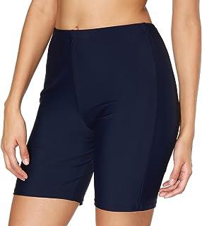 ATTRACO Women`s Long Board Shorts High Waist Swim Bottom Solid Jammer Swim Shorts