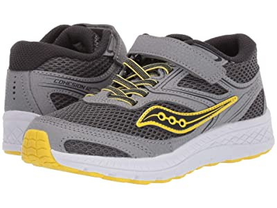 Saucony Kids S-Cohesion 12 A/C (Little Kid/Big Kid) (Grey/Yellow) Boys Shoes
