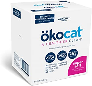ökocat Super Soft Natural Wood Clumping Cat Litter with Odor Control 14 lbs Large