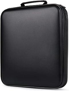 CD Case, COOFIT 160 Capacity DVD Storage DVD Case VCD Wallets Storage Organizer Flexible Plastic Protective DVD Storage Black
