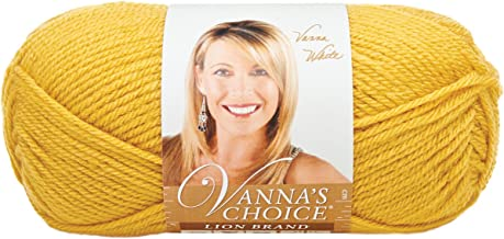 Lion Brand Yarn 860-158I Vanna's Choice Yarn, Mustard (170 yd - 156 m)