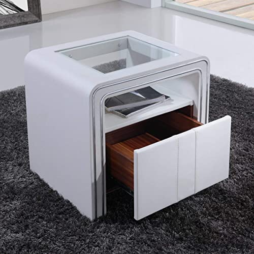 Table De Nuit Design Moderne.Table Chevet Design Amazon Fr