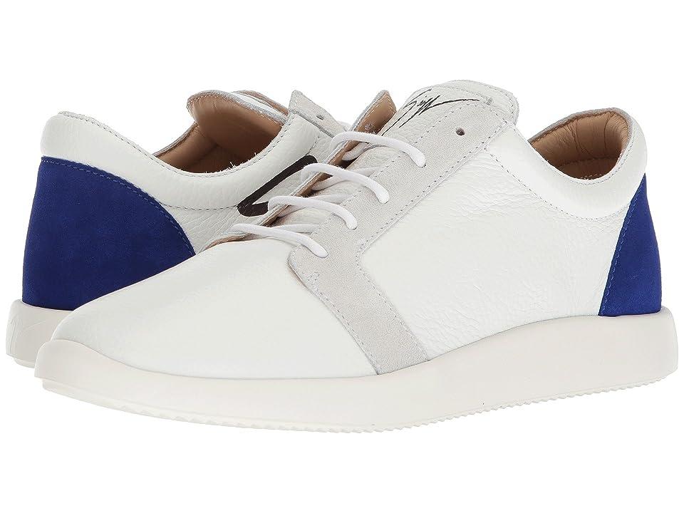Giuseppe Zanotti Singles Lindos Low Top Sneaker (Blue) Men