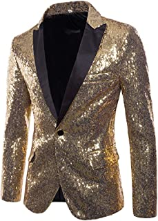 MAGE MALE Mens Tails Slim Fit Tailcoat Sequin Dress Coat Swallowtail Dinner Party Wedding Blazer Suit Jacket