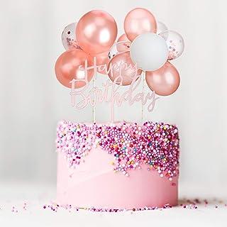 Topper de Gâteau Nuage Ballon en Latex, Mini Topper Gâteau Guirlande de Ballons Ballon de Confettis Acrylique Cupcake Topp...
