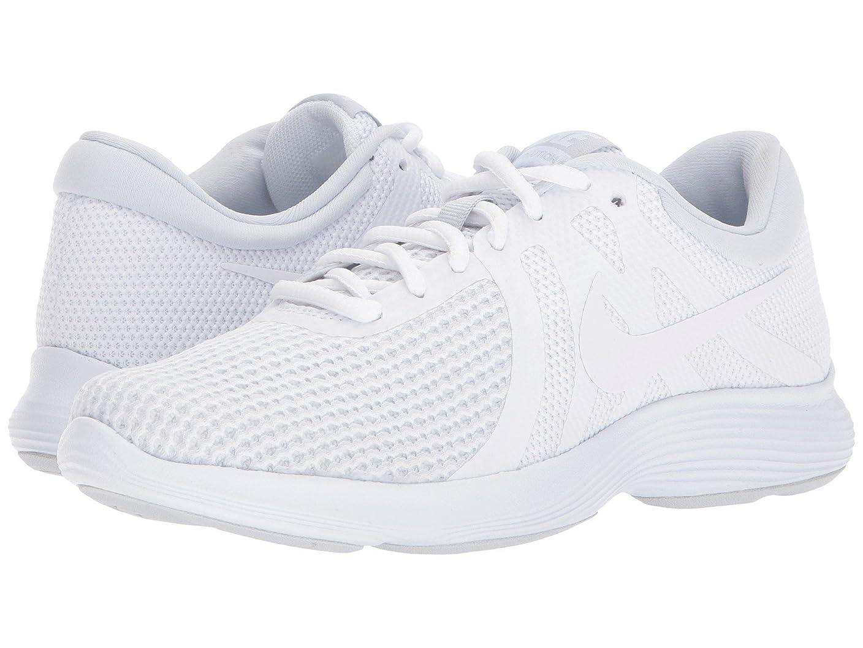 消費者幸運なことに日付付き(ナイキ) NIKE レディースランニングシューズ?スニーカー?靴 Revolution 4 White/White/Pure Platinum 9 (26cm) D - Wide