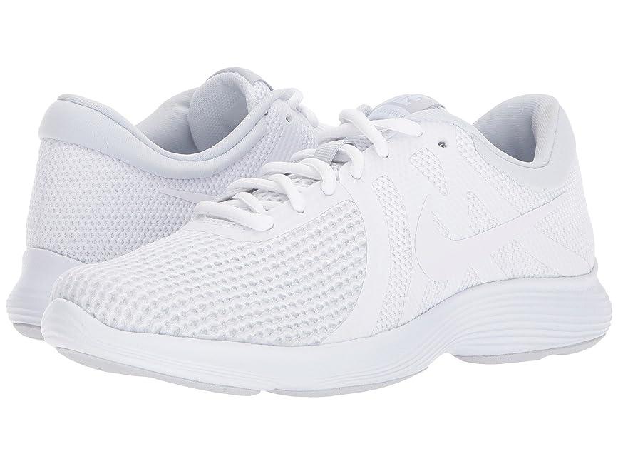 起きるお肉支出(ナイキ) NIKE レディースランニングシューズ?スニーカー?靴 Revolution 4 White/White/Pure Platinum 9 (26cm) D - Wide